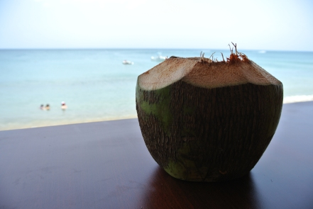 Coconut Pirate Drink at Villa Cofresi Hotel